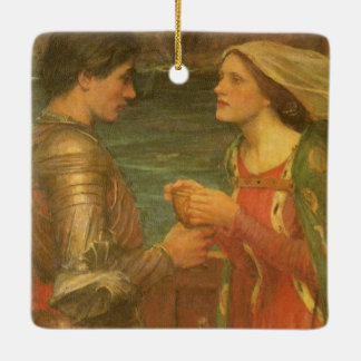 Vintage Fine Art, Tristan and Isolde by Waterhouse Ceramic Ornament