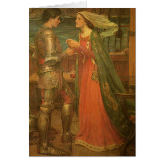 Vintage Fine Art, Tristan and Isolde by Waterhouse Greeting Card