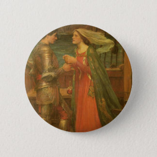Vintage Fine Art, Tristan and Isolde by Waterhouse Pinback Button