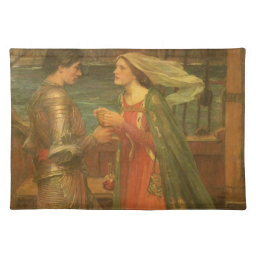 Vintage Fine Art, Tristan and Isolde by Waterhouse Placemat