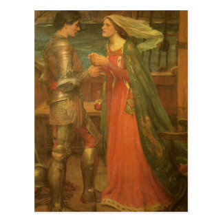 Vintage Fine Art, Tristan and Isolde by Waterhouse Postcard