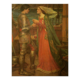Vintage Fine Art, Tristan and Isolde by Waterhouse Poster