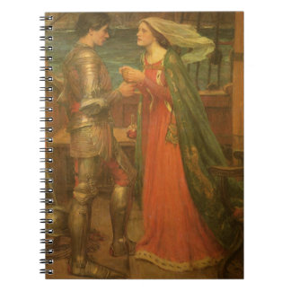 Vintage Fine Art, Tristan and Isolde by Waterhouse Spiral Notebook