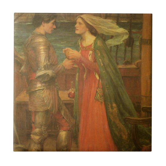 Vintage Fine Art, Tristan and Isolde by Waterhouse Tile