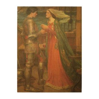 Vintage Fine Art, Tristan and Isolde by Waterhouse Wood Print