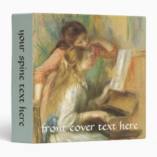 Vintage Fine Art, Young Girls at Piano by Renoir 3 Ring Binder
