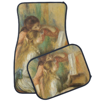 Vintage Fine Art, Young Girls at Piano by Renoir Car Mat