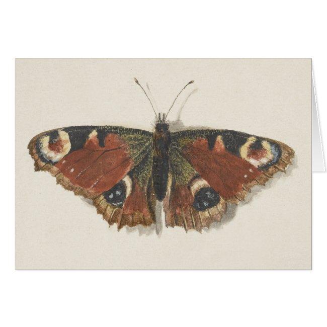 Vintage Fine Dutch Art: Butterfly Greeting Card