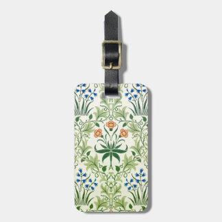 Vintage Fine Floral Pattern William Morris Luggage Tag