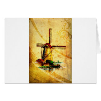 Vintage fineart F021 Windmill Card