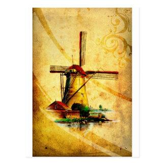 Vintage fineart F021 Windmill Postcard