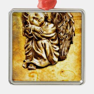 Vintage fineart F030 angel Metal Ornament