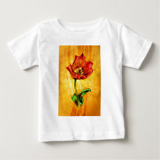 Vintage fineart F031 flower Baby T-Shirt
