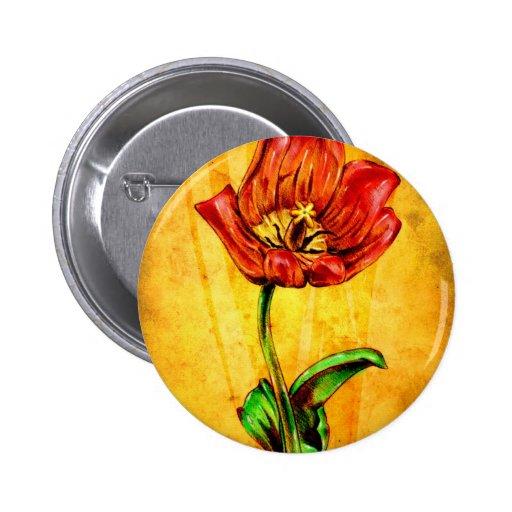 Vintage fineart F031 flower Buttons