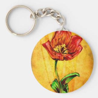 Vintage fineart F031 flower Keychain
