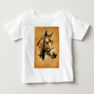 Vintage fineart F049 horse Baby T-Shirt
