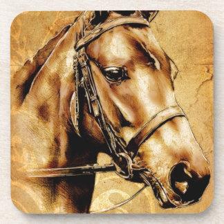 Vintage fineart F049 horse Drink Coaster
