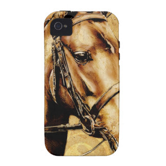 Vintage fineart F049 horse iPhone 4 Cases
