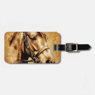 Vintage fineart F049 horse Tags For Luggage