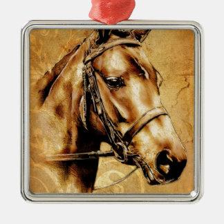 Vintage fineart F049 horse Metal Ornament