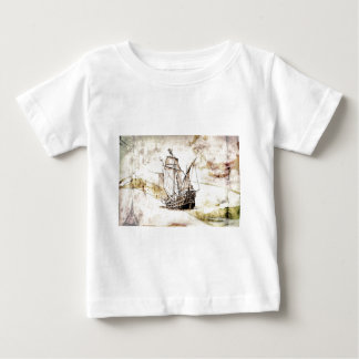 Vintage fineart F070 boat Baby T-Shirt