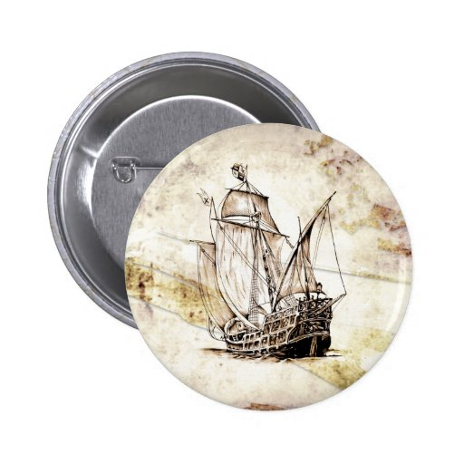 Vintage fineart F070 boat Pinback Buttons