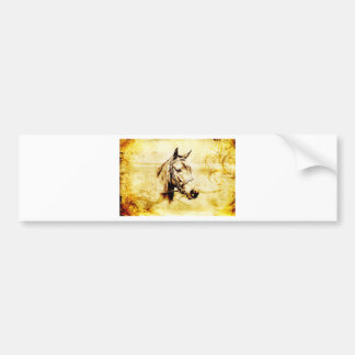 Vintage fineart F075 horse Bumper Stickers
