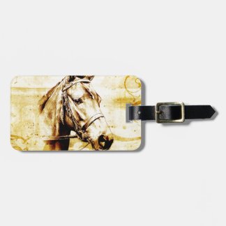 Vintage fineart F075 horse Travel Bag Tag