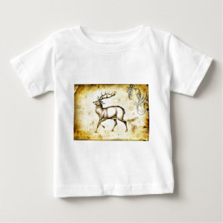 Vintage fineart F076 deer Baby T-Shirt