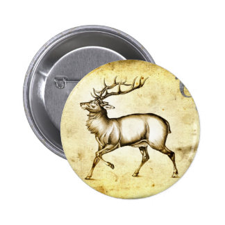 Vintage fineart F076 deer Pins