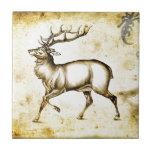 Vintage fineart F076 deer Ceramic Tile