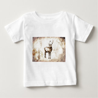Vintage fineart F077 deer Baby T-Shirt