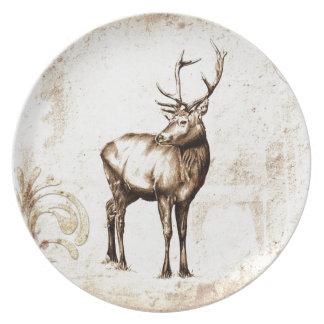 Vintage fineart F077 deer Dinner Plate