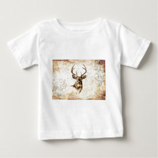 Vintage fineart F078 deer Baby T-Shirt