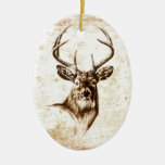 Vintage fineart F078 deer Christmas Ornaments