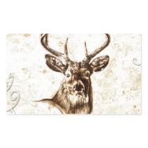 Vintage fineart F078 deer Rectangular Sticker