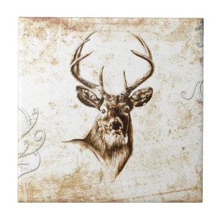 Vintage fineart F078 deer Tile
