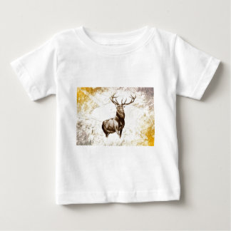 Vintage fineart F079 deer Baby T-Shirt