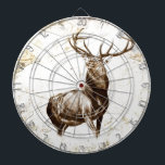 "Vintage fineart F079 deer Dart Board<br><div class=""desc"">Graphic design,  beautiful image,  high quality directly from fine artist. I am a young artist from Europe and I present my artworks. I hope you enjoy my designs.</div>"