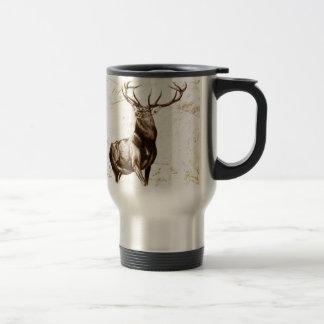 Vintage fineart F079 deer Travel Mug