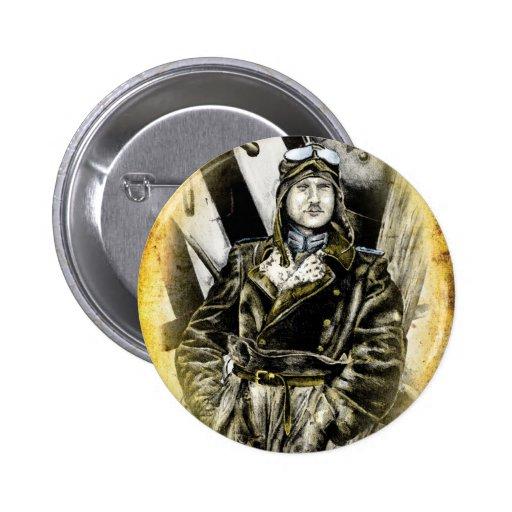 Vintage fineart F081 pilot Button
