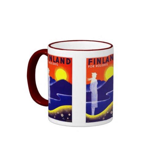 Vintage Finland Travel Poster Design Coffee Mugs Zazzle
