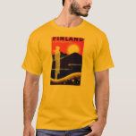 Vintage Finland Travel Poster Design T-Shirt