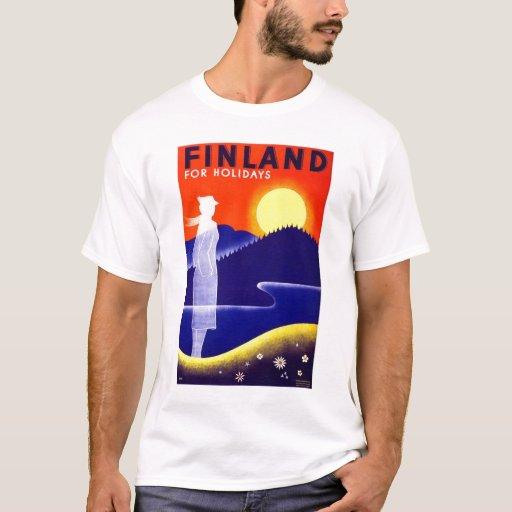 Vintage Finland Travel Poster Design T-Shirt