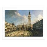 Vintage fino de San Marco de la plaza de Canaletto Tarjetas Postales