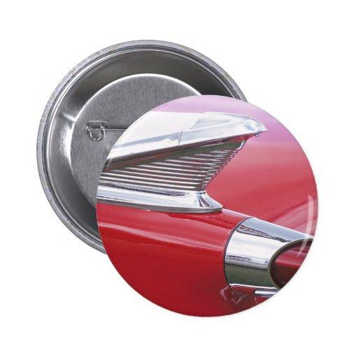 Vintage Fins and Chrome Classic Car Photo Pinback Button