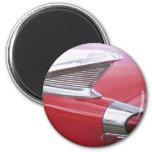 Vintage Fins and Chrome Classic Car Photo Fridge Magnet