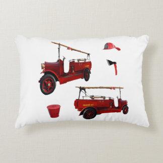 Vintage Fire Brigade Truck Axe Cap, Accent Pillow
