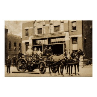Vintage Fire Company Poster