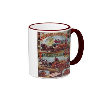 Vintage Fire Extinguisher Advertising Ringer Mug